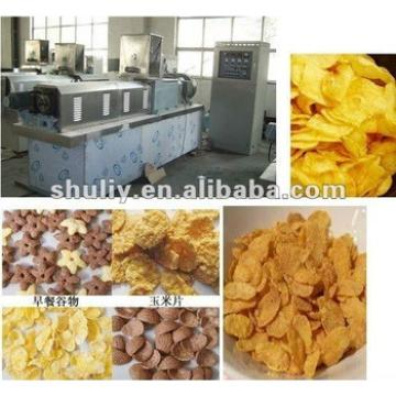 Double-screw extruder corn/breakfast cereal flakes machinery/corn puff snack extruder