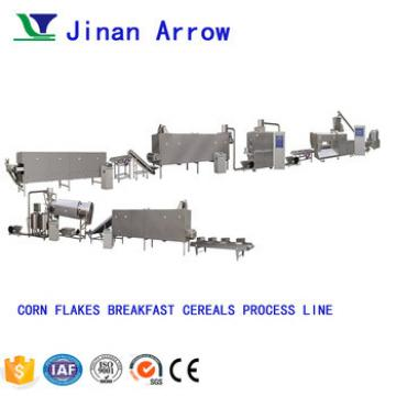 Frosted Corn Flakes Processing Line Breakfast Cereal Making Machinery