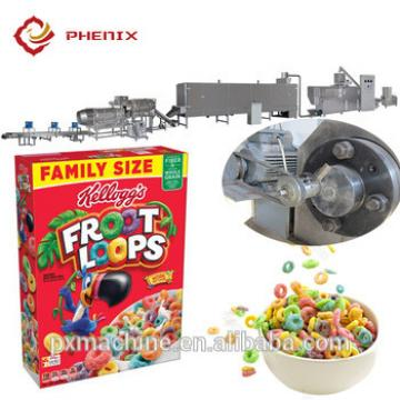 automatic cereal breakfast corn flakes snack food making extruder machine