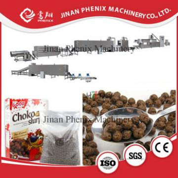 low consumption corn flakes breakfast cereal processing machine