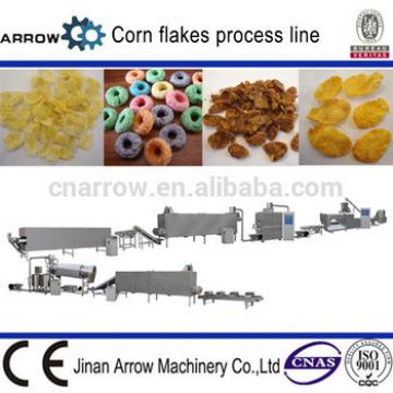Double screw extruded breakfast cereal corn flakes making machine