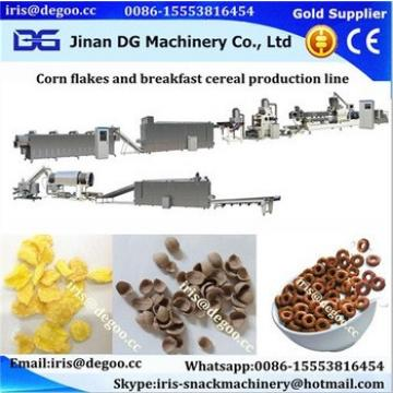 Automatic Double Screw Extruder Machine For Corn Flakes puffed breakfast cereal snack food production line