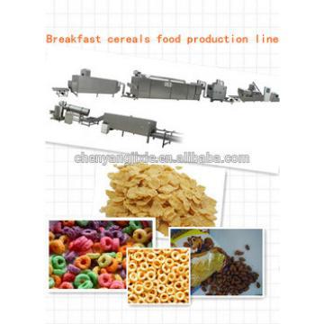 Automatic grain corn rice breakfast cereal flaking machine production line