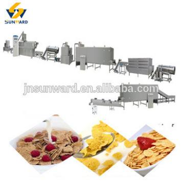 China automatic grain processing equipment, breakfast cereal machine, corn flake processing line