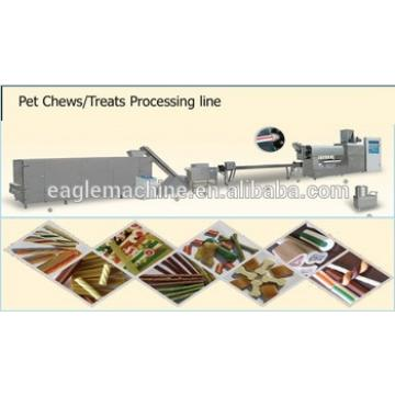 DPS-100 ISO BV CE certificate full automatic Pet /dog chewing food making machine /equipment globle supplier in china