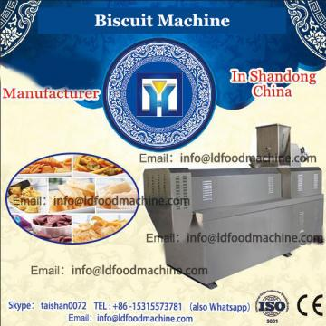 Small double flavor biscuit sandwich machine with biscuit packaging machine