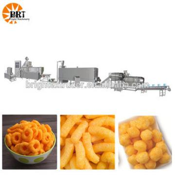 snacks corn puffs making machine breakfast cereal extruded rice processing line