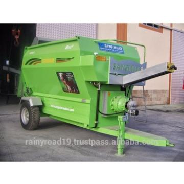 HIGH QUALITY FROM TURKEY Animal Feed Pellet Machine 8m3 FEED MIXER WAGON HORIZANTAL AUGER