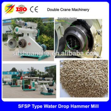 CE approved double crane chicken feed making machine/animal feed machinery/cheap pellet mill