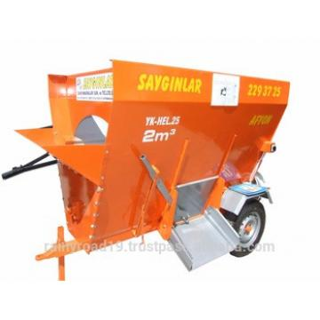 HORIZANTAL SINGLE AUGER TRACTOR PTO AND ELECTRIC 2m3 FEED MIXER WAGON animal feed machinery