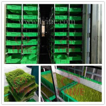 hydroponics barley sprout machine for sprouting barley fodder seeds/ animal feed breeding container with green tray