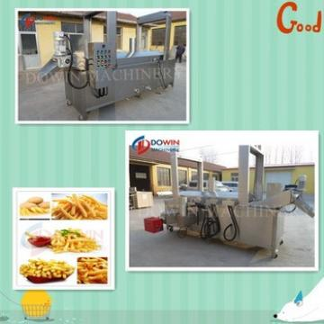 Semi-automatic Precooked French Fries Production Line Potato Chips Making Machines