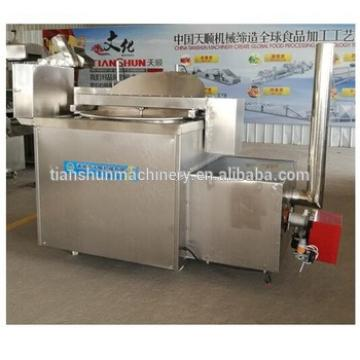 Gas deep fryer potato chips making machine