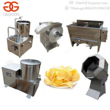 Industrial Price Small Scale Semi Automatic Fresh Frozen French Fries Fryer Making Production Line Potato Chips Machine for Sale
