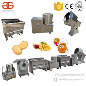 Industrial Frites Surgeler French Fries Production Line Finger Chips Small Scale Potato Chips Making Machine