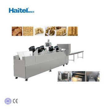Nutritional Crispy Energy Granola Bar Making and Cutting Machine