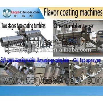 puffed snacks food/peanut/potato chips flavor coating tumbler making machine