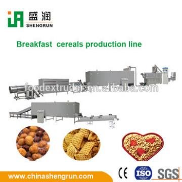 Crunchy breakfast cereal processing extruder making machine