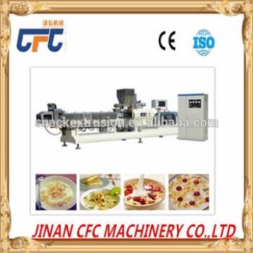 easy to operate double screw corn snack making machine/breakfast cereal line