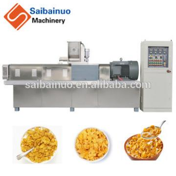 High quality breakfast cereals corn flakes extruder making machine
