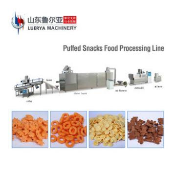 Factory Hot Sales puffed corn snacks machine/corn puff snack extruder