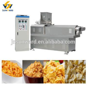 China automatic extrusion corn flake manufacturer, breakfast cereal machine