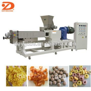 Double screw corn flakes extruding machine