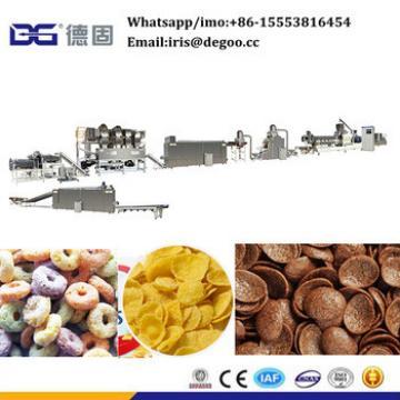 International standard bulk crunch corn flakes machines manufacture factory