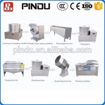 Small scale frozen potato chips french fries making machine production processing line