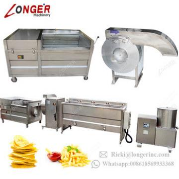 Fully Automatic Plantain Finger Potato Chips Production Line Fried Tornado Potato Sticks Making Frozen French Fries Machinery