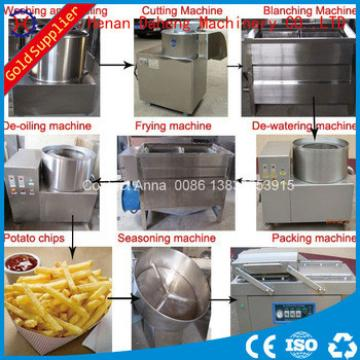 100kg/h fried potato chips making machine