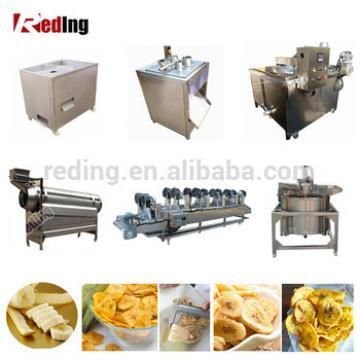 Professional Green Banana Peeling Slicer Machine Banana Plantain Chips Production Line Making Machine