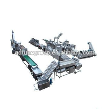 2017 full-automatic capacity Frozen French Fries Processing Line potato chips making machine