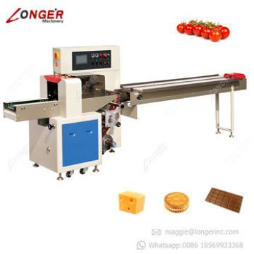 Fully Automatic Flow Chocolate Bar Pillow Pack Sponge Puff Pastry Packaging Machine Muffin Puff Wrapping Machine
