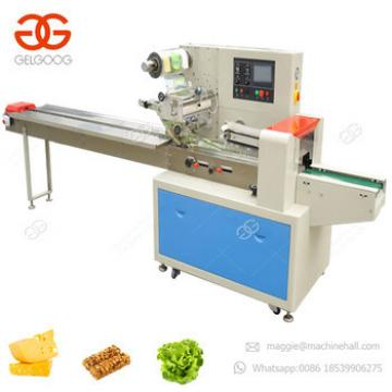 Automatic Flow Type Ice Lolly Wrapping Price Pillow Packing Biscuit Packer Chocolate Protein Granola Bar Packaging Machine