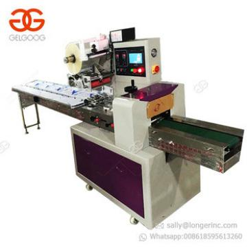 Good Performance Vertical Packaging Chocolate Popsicle Sandwich Biscuit Protein Bars Granola Bar Soap Flow Pack Machine Price