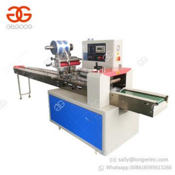 High Efficient Flow Pack Chapati Cake Sandwich Chocolate Biscuit Cookie Energy Granola Bar Protein Bars Packaging Machine