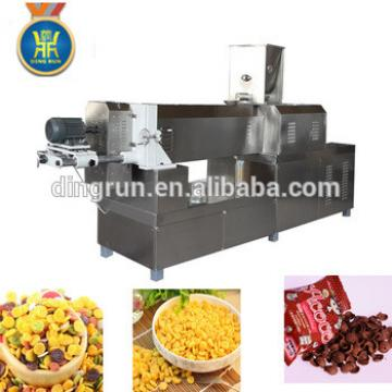 extruded snack chips extruder machine cereal corn flakes line