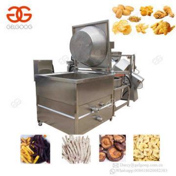 Snack Food Deep Fryer Line Fresh Potato Chips Frying Machinery Fried Coated Peanut Making Machine