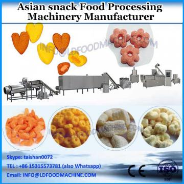 Extruded fried snacks food making machine Octagonal fried snack processing line