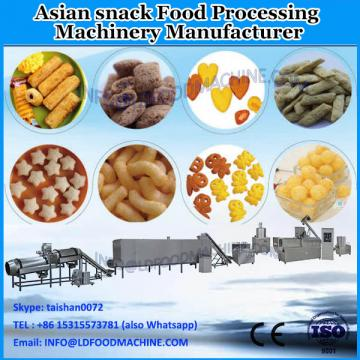 Potato waved chips snack making extruder machine/Wheat puff pellet food processing line/Corn cone fry chips production equipment