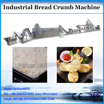 Twin screw extruder for bread crumbs with different shapes and sizes
