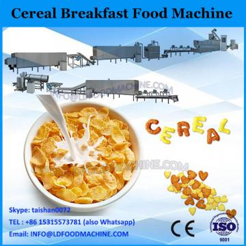 High quality breakfast cereal corn flakes snack food extruder machine production line