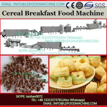 Double screw extruder snack food breakfast cereals processing machine