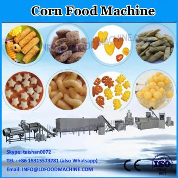 slanty puffed twin screw extruder corn snacks food making machine