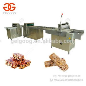 Commercial Snack Peanut Brittle Candy Production Line Energy Bar Cutting Sesame Cereal Protein Energy Granola Bar Making Machine