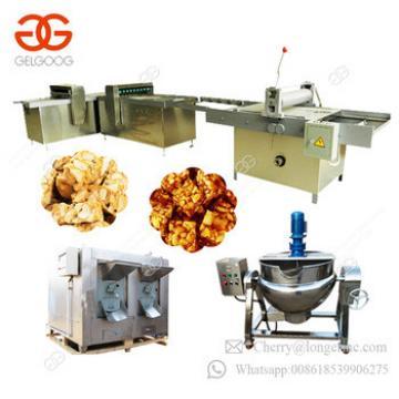 Semi-Automatic Production Line Cereal Bar Maker Nougat Energy Granola Peanut Candy Bar Making Machine