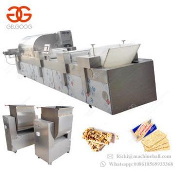2017 Trade Assurance Groundnut Brittle Sesame Candy Cutting Enerygy Cereal Bar Maker Equipment Peanut Bar Making Machine