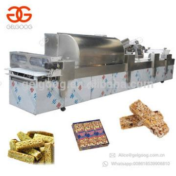 Full Automatic Granola Candy Production Line Sesame Snap Equipment Cereal Protein Energy Bar Making Peanut Chikki Machine