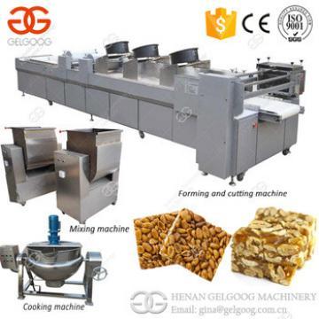Sesame Bar Machine Peanut Brittle Maker Peanut Candy Making Machine Granola Bar Production Line